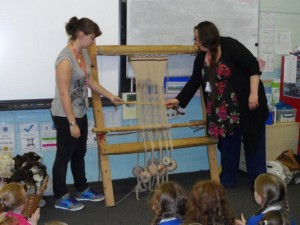 Viking weaving demonstration