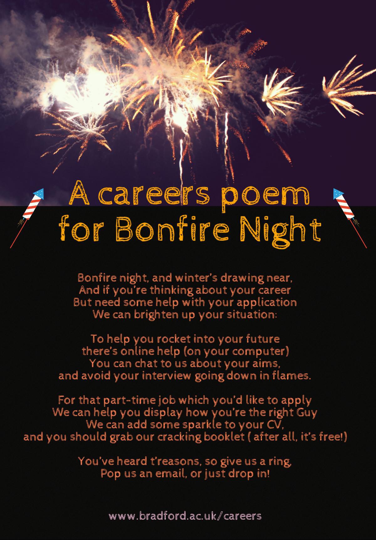 Bonfire night poem