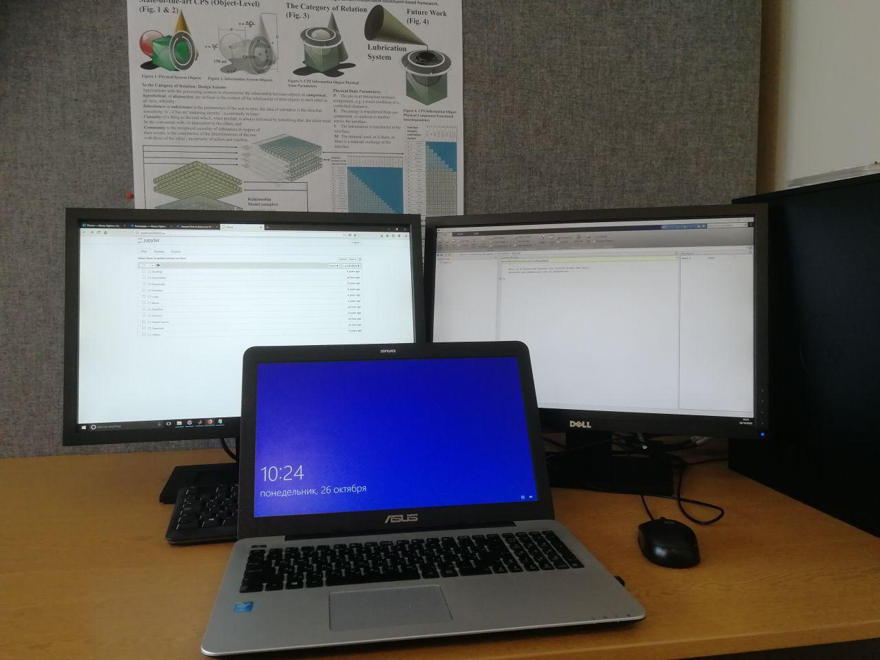 Workstation made up of 3x PCs