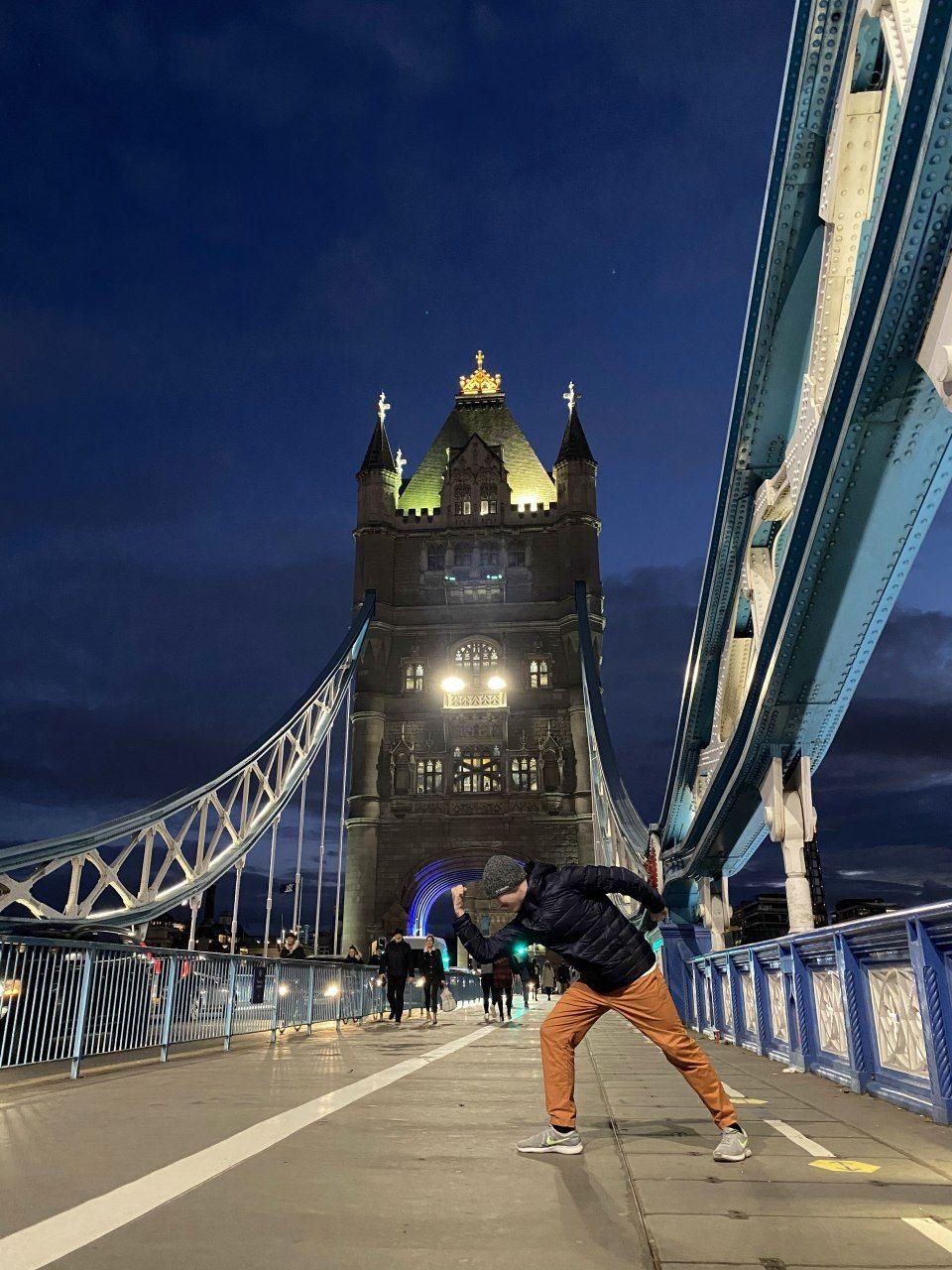 Alexey Uglanov at Tower Bridge, London