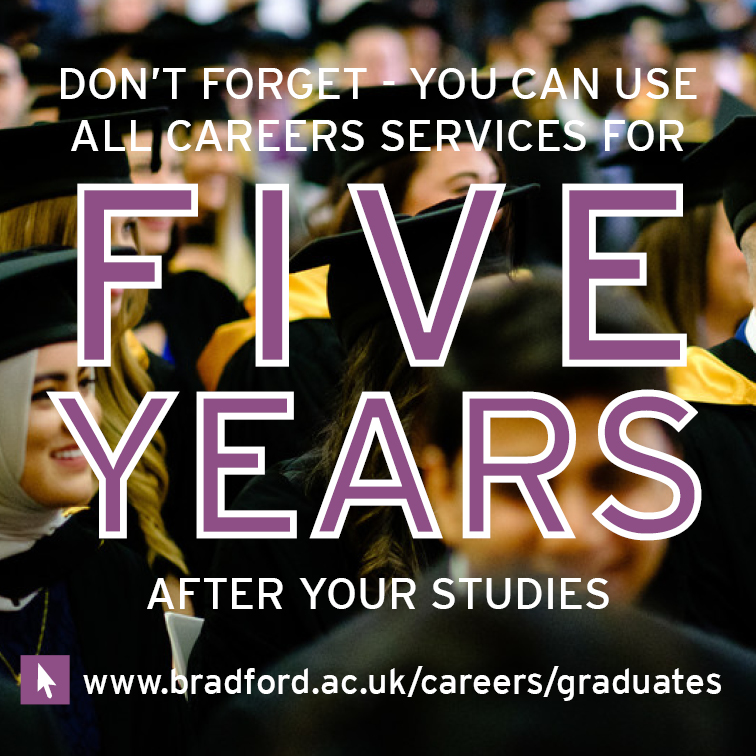 You can use careers for five years after your studies
