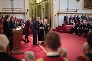 Receiving the Queen's Anniversary Prize