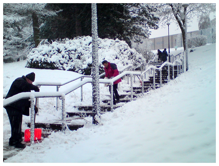Estates and Facilities Staff Working Hard to Clear the Snow