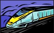 image of an animated train