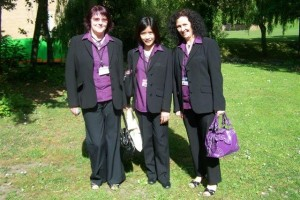 Helpdesk Staff Sylvia Lang, Maria Fernandez and Frances Johnson