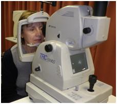 patient having eye examination