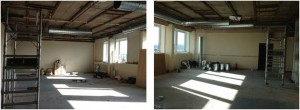 Refurbishment of L4 for the Simulation Lecture Theatre - facing the planned seating area