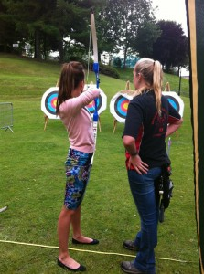 Trying my hand in archery