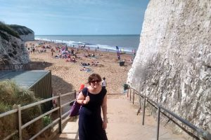 Katie at Botany Bay