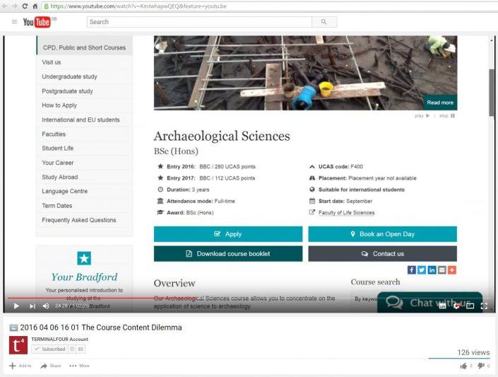 TerminalFour webinar screenshot