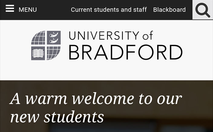 University of Bradford logo in SVG